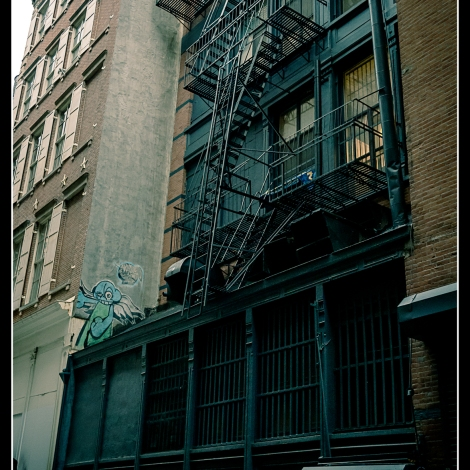 New York Black Stairs and Facade
