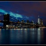 New York Brooklyn Bridge by Night