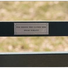 """New York Central Park Bench Quote """"4 Friends..."""""""