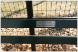 """New York Central Park Bench Quote """"Aren't we Lucky ?"""""""