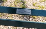 """New York Central Park Bench Quote """"Enjoy The Day"""""""
