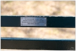 """New York Central Park Bench Quote """"The Grain of Will"""""""