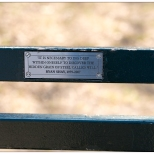 "New York Central Park Bench Quote ""The Grain of Will"""