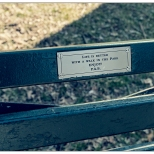 "New York Central Park Bench Quote ""Life Is Better with a Walk in the Park"""