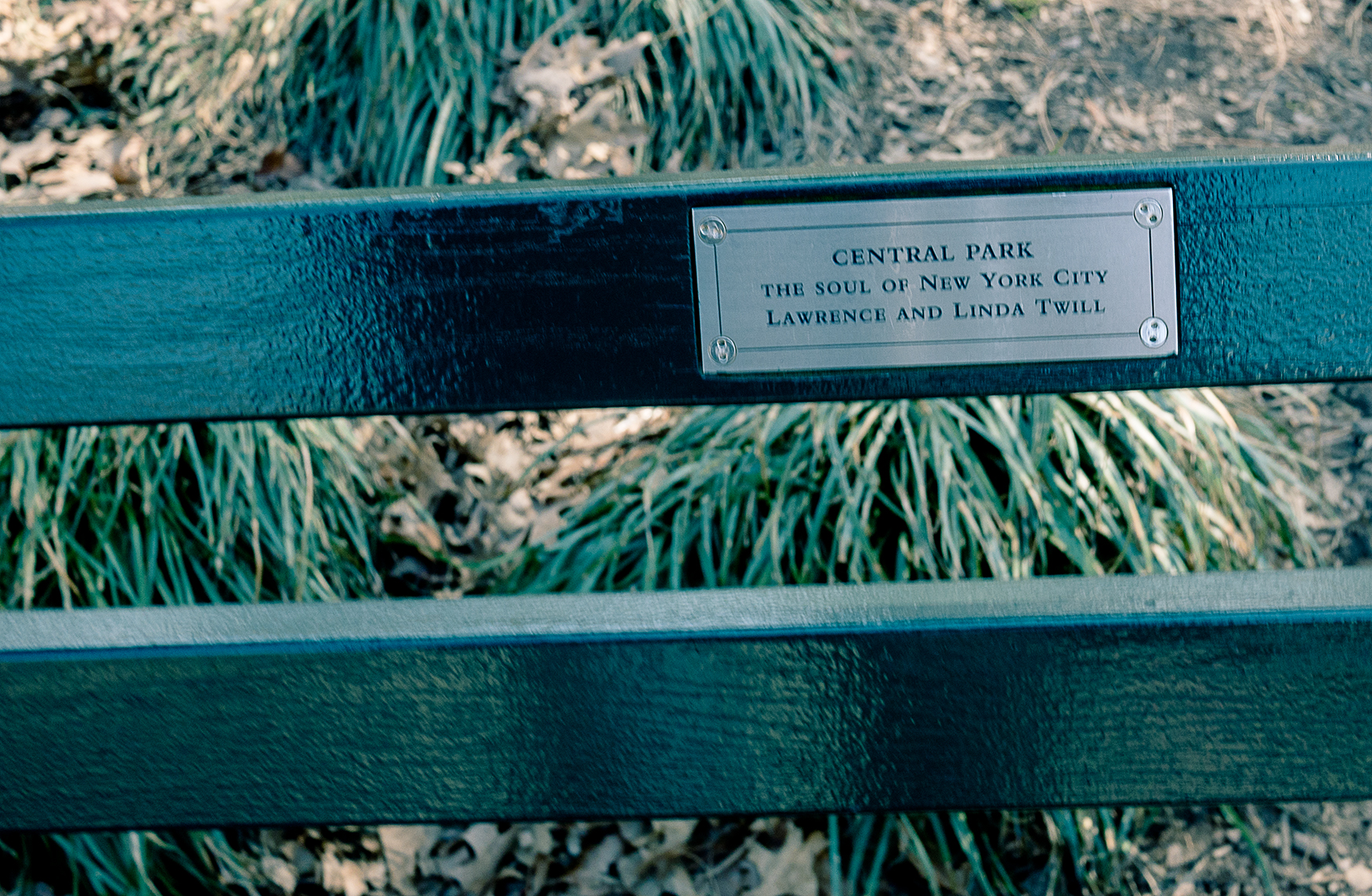 New York Central Park Bench Quote The Soul Of Ny Philigrane