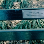"New York Central Park Bench Quote ""The Soul of NY"""