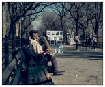 New York Central Park Blues Man