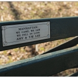 "New York Central ParkBench Quote ""We Came..."""