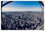 New York Lower Manhattan Fish Eye View
