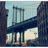 New York Manhattan Bridge From Washington Street