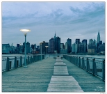 New York Manhattan from Long Island