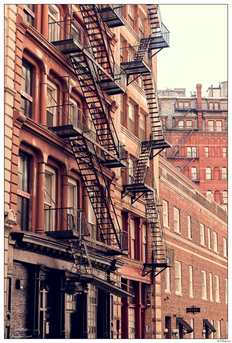 New York Red&Black Stairs