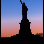 New York Statue of Liberty Sunset