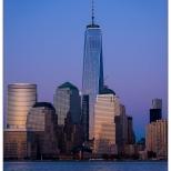 New York Sunset on 911 Memorial