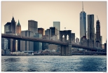 New York Sunset on The Brookling Bridge